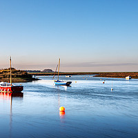 Buy canvas prints of An Ebb Tide at Burnham Overy by Jim Key