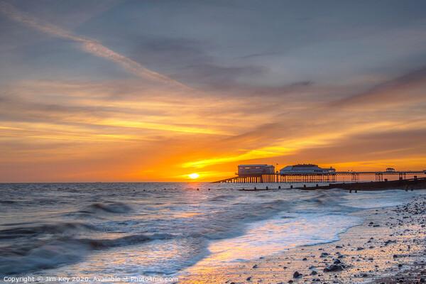 Cromer Pier Sunrise Acrylic by Jim Key