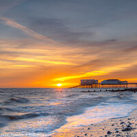 Buy canvas prints of Cromer Pier Sunrise by Jim Key