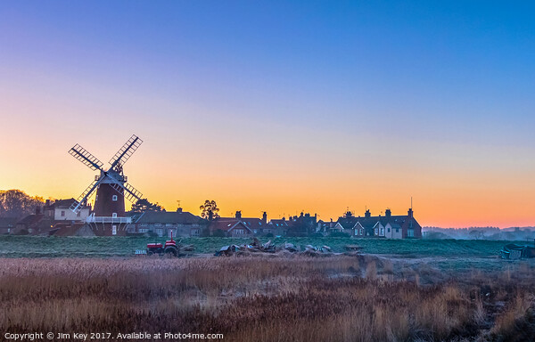 Cley Windmill Norfolk Framed Mounted Print by Jim Key