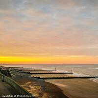 Buy canvas prints of Sunset Sheringham Promenade North Norfolk. by Jim Key