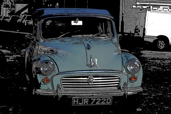 Morris Minor colour pop! Canvas print by Helen Davies