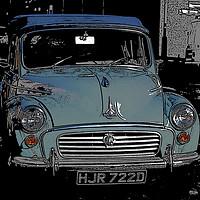 Buy canvas prints of Morris Minor colour pop! by Helen Davies