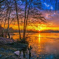 Buy canvas prints of Horseshoe Lake Sunrise      by Dave Williams