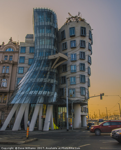 The Dancing House, Prague Canvas Print by Dave Williams