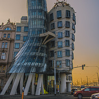 Buy canvas prints of The Dancing House, Prague by Dave Williams
