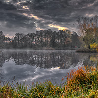 Buy canvas prints of Grey and Misty Morning by Dave Williams