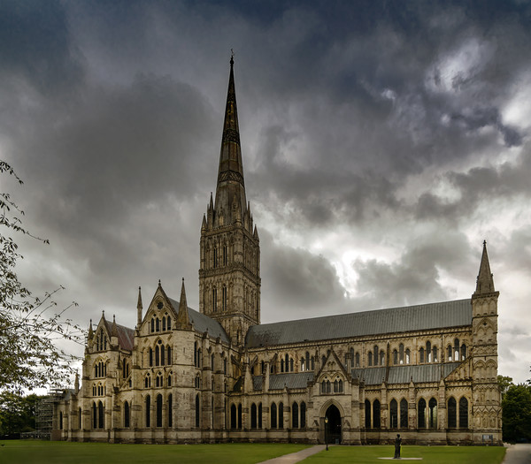 The Majestic Salisbury Cathedral  Acrylic by Dave Williams