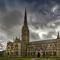 Buy canvas prints of The Majestic Salisbury Cathedral  by Dave Williams