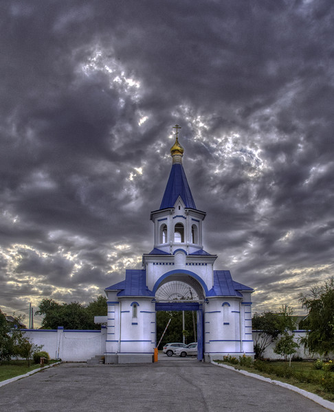 Gateway to the Iversky Convent Acrylic by Dave Williams