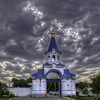 Buy canvas prints of Gateway to the Iversky Convent by Dave Williams