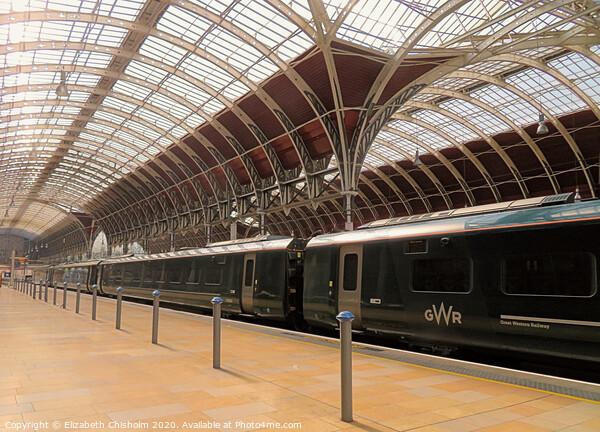 Paddington Station - awaiting passengers Canvas Print by Elizabeth Chisholm