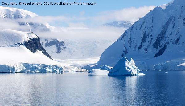 Antarctic seascape Framed Print by Hazel Wright