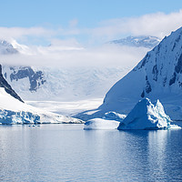 Buy canvas prints of Antarctic seascape by Hazel Wright