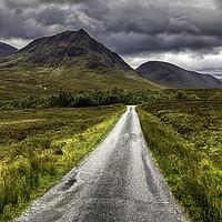Buy canvas prints of The Road To Glen Etive by Derek Daniel