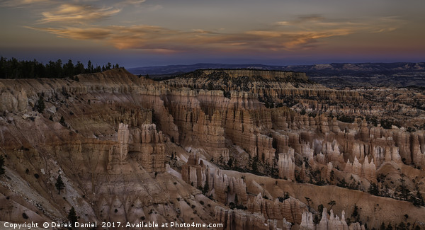 Bryce sunset Canvas Print by Derek Daniel