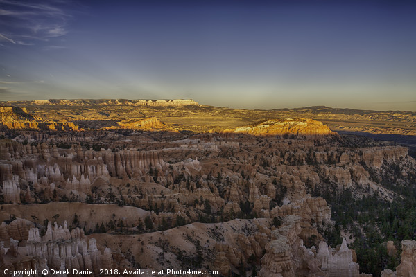 Bryce Canyon Sunset Canvas Print by Derek Daniel
