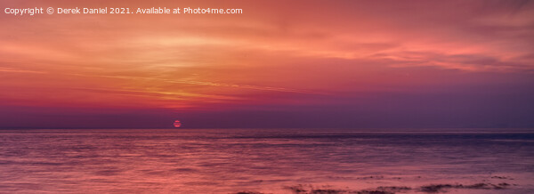 Sunrise at Peveril Point, Swanage (panoramic) Framed Mounted Print by Derek Daniel