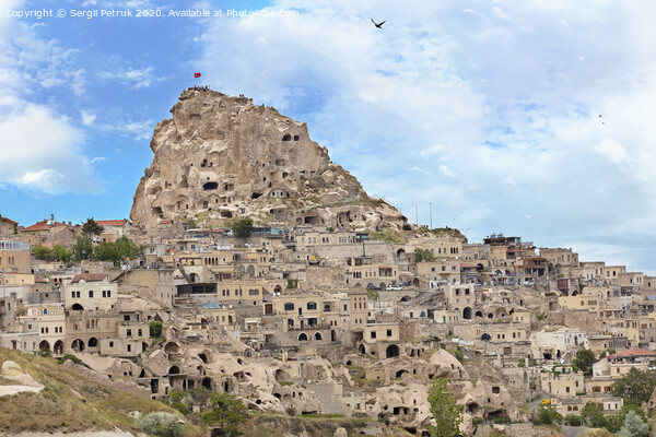 Cave Uchhisar. Cappadocia, central Turkey. Print by Sergii Petruk