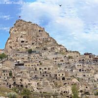 Buy canvas prints of Cave Uchhisar. Cappadocia, central Turkey. by Sergii Petruk