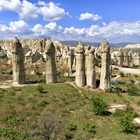 Buy canvas prints of Large phallic rock formations in the Valley of Love, Cappadocia, Turkey. by Sergii Petruk