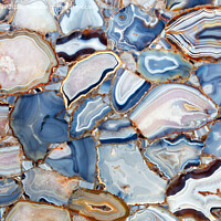 Buy canvas prints of Amazing mesmerizing cross sectional view gemstones agate. by Sergii Petruk