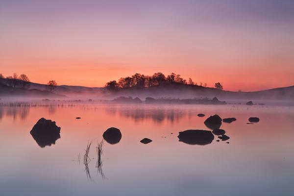 Rannoch Moor Sunrise Canvas print by overhoist
