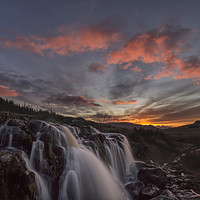 Buy canvas prints of Loup of Fintry Sunset by overhoist