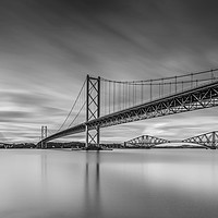 Buy canvas prints of The Forth Bridges by overhoist