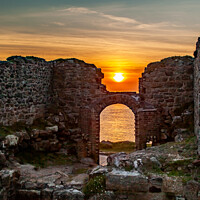 Buy canvas prints of Sunset over ruins by David Belcher
