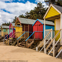 Buy canvas prints of Beach Huts by David Belcher