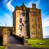 Buy canvas prints of Broughty ferry Castle by GORDON CURRIE