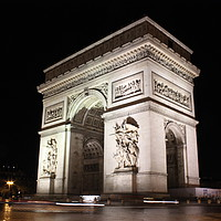 Buy canvas prints of Arc de Triomphe at night, Paris by Carmen Green