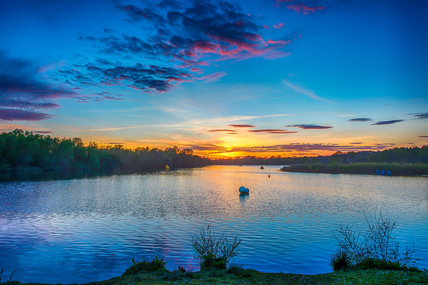 Horseshoe Lake Blue 1 Acrylic by Colin Stock