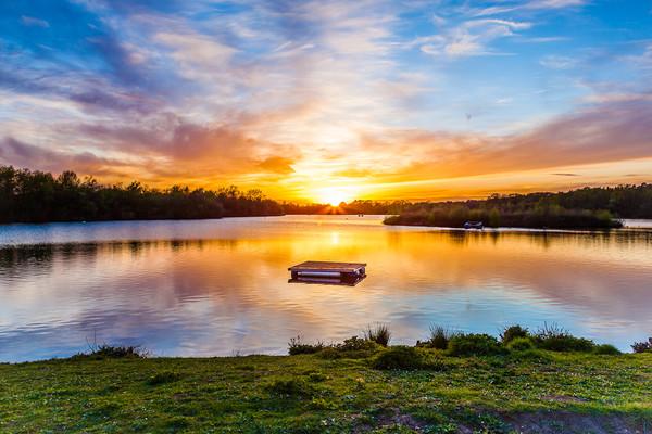 Sunset At Horseshoe Lake Acrylic by Colin Stock