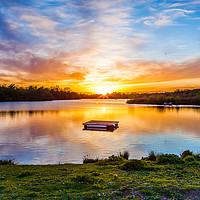 Buy canvas prints of Sunset At Horseshoe Lake by Colin Stock