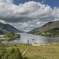 Buy canvas prints of Glenfinnan Monument by Andrew Sharpe