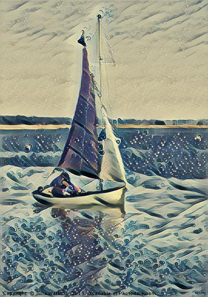 Sailing  Canvas print by Julia Watkins