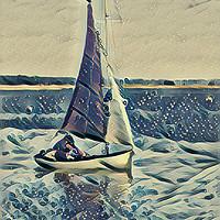 Buy canvas prints of Sailing  by Julia Watkins