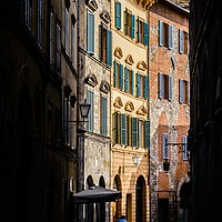 Buy canvas prints of Small street in Siena, Tuscany, Italy by Alexandre Rotenberg