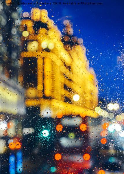 Melancholic London Lights  Canvas print by Alexandre Rotenberg
