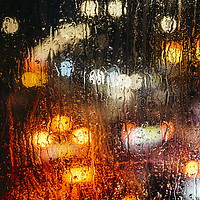 Buy canvas prints of Raindrops on street window by Alexandre Rotenberg