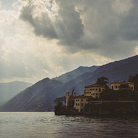 Buy canvas prints of Villa on Lake Como, Italy by Alexandre Rotenberg