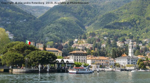 Italian village on Lake Como Canvas Print by Alexandre Rotenberg