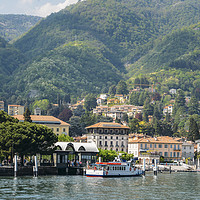 Buy canvas prints of Italian village on Lake Como by Alexandre Rotenberg