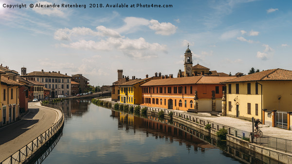 Gaggiano on the Naviglio Grande canal, Italy Canvas print by Alexandre Rotenberg