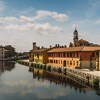 Buy canvas prints of Gaggiano on the Naviglio Grande canal, Italy by Alexandre Rotenberg