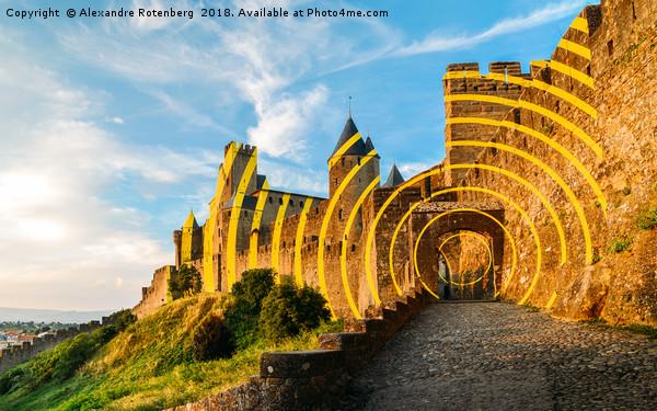 Carcassonne's Citadel, France Canvas print by Alexandre Rotenberg