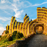 Buy canvas prints of Carcassonne's Citadel, France by Alexandre Rotenberg