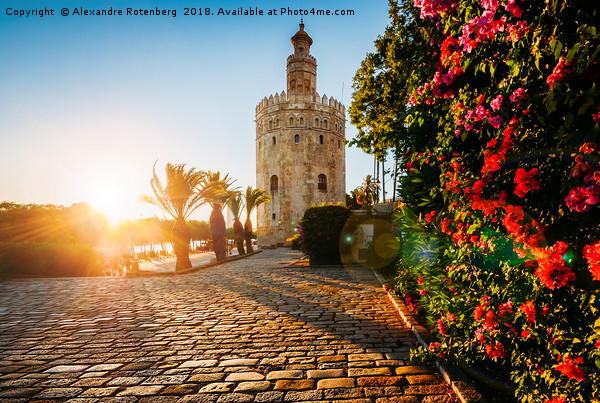 Torre del Oro, Seville, Spain Canvas print by Alexandre Rotenberg